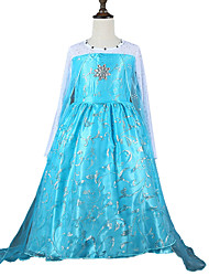 Girl's Beaded Organza Maxi Elsa Princess Dress
