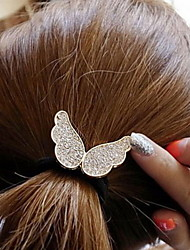 Korean Version Of The Angel Wings Rubber Diamond Hair Ties Hair Accessories