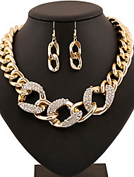 MPL Fashion large hoop buckle metal necklace earrings set