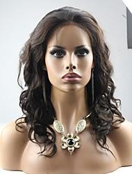14inch Virgin Brazilian Human Hair Wavy Lace Front Wig
