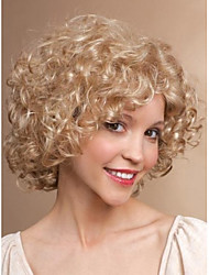 Fashion Lady Short Blonde Color Curly Beautiful Wigs