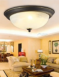 12W Modern/Contemporary Bulb Included Electroplated Flush Mount Living Room / Bedroom / Dining Room / Kitchen