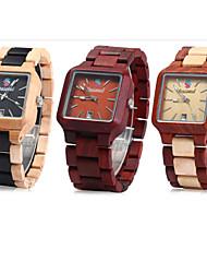 relógios de madeira para homens / relógios de quartzo de madeira / dom idéia