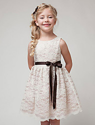 Girl's Black / Beige Dress,Jacquard Cotton Summer