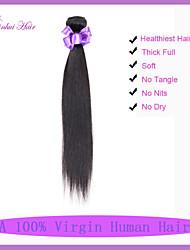 Capelli umani 7a capelli vergine diritta 1pc economici malesi capelli vergini dritti tesse