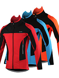 ARSUXEO Bike/Cycling Jacket / Jersey / Tops Men's Long SleeveBreathable / Anatomic Design / Windproof / Thermal / Warm / Reflective