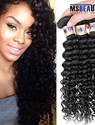 """3 unidades / lote 8 """"-30"""" 6a malaio virgens extensões de cabelo de onda profunda 100% cabelo humano virgem não transformados tece"""
