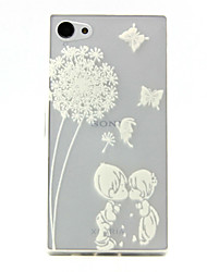 Dandelion child Pattern TPU Relief Back Cover Case for Sony Z5mini