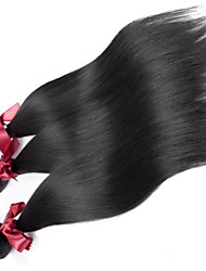 "EVET Unprocessed Brazilian Hair Bundles Silky Straight Brazilian Virgin Human Hair Weaves Natural Color 3Pcs/Lot 8""-26"""