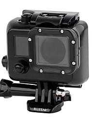 RUITAI GP338 Professional 45m Waterproof Camera Housing Case for GoPro Hero3/Hero3+/Hero4 - Black