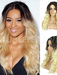 Blonde Ombre Japanese Heat Resistent Synthetic Hair U Middle Part Lace Wig Synthetic Lace Front Wigs