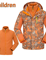 Kids Outdoor Jakcet Hoodie Waterproof Winter Boys Girls Hiking Jackets Removable Liner 3In1 Children Jackets T56103