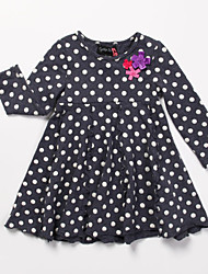 Vestido Chica deAlgodón-Todas las Temporadas-Negro