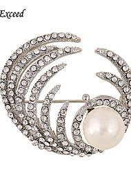 d dépasser broches de mode épingles argent vintage bouquet de cristal Broche pour le mariage des femmes de Broche