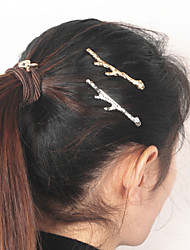 Women's Simple Retro Metal Tree Branches Hair Clips Hairpin Hair Accessories 1pc