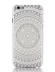Snow White Mandala Flower Pattern PC Hard Back Cover Case for iPhone 7 7 Plus 6s 6 Plus