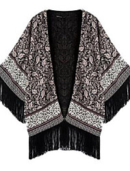Women's Floral Gray Wrap , Halter Long Sleeve
