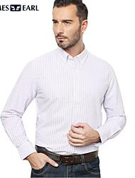 JamesEarl Men's Shirt Collar Long Sleeve Shirt & Blouse Purple - M81XF000633