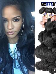 """4 unidades / lote 8 """"-30"""" cabelo humano virgem onda do corpo cabelo malaio tramas 100% Mechas malaio não transformados tece"""