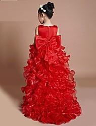 Vestido Chica deUn Color-Algodón / Poliéster-Todas las Temporadas-Oro / Morado / Rojo