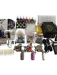 4 Guns BaseKey Tattoo Kit K401 Machine With Power Supply Grips Cups Needles(Ink not included)