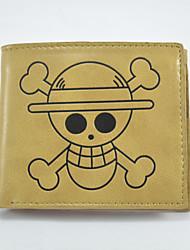 One Piece Cartoon Fashion Wallet Short Students Leather Wallets Men'S Wallet Women'S Wallet