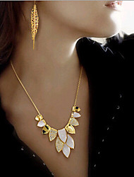 New Arrival Fashion Jewelry Rhinestone Leaf Necklace