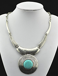 Necklace Pendant Necklaces / Vintage Necklaces Jewelry Party / Daily / Casual / Sports Fashion Alloy Silver 1pc Gift