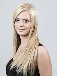 Blonde Full Lace Human Hair Wigs 130 Density Virgin Brazilian Long Blonde Wig Straight Human Hair Wigs Blonde Wig