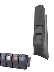 iztoss schwarzen linken A-Säule 4-Schaltergehäuse pod für Jeep Wrangler jk 07-15 mit 5 Wippschalter