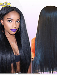 top vente à bas prix de Brésilien de Vierge crépus cheveux humains perruques pleines droites&perruques avant pour les femmes noires
