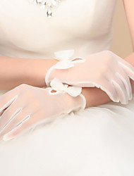 Wrist Length Fingertips Glove Nylon Bridal Gloves / Party/ Evening Gloves Spring / Summer / Fall / Winter Bow