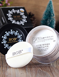 BOB Whitening Soft Makeup Loose Powder Finishing Powder Concealer 16g 1Pc (with Puff)