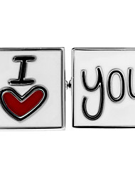 Valentine's Day I Love You I LOVE YOU French shirt cufflinks cuff nail