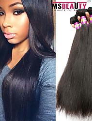"""4 pièces / lot 8 """"-30"""" cheveux brésilienne vierge de cheveux humains droite 7a trames 100% remy brésilien non transformés tissages de"""