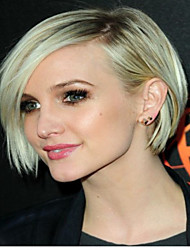 New Product Blonde Short Straight  Hair Syntheic  Wig