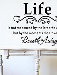 Wall Stickers Wall Decals, Life Letter Three Generations PVC Removable Wall Stickers