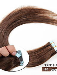 20pcs 1.5-2g/pc 16-24inch Brazilian Virgin Tape Human Hair Extension #4 Tape In Human Hair Extensions 006