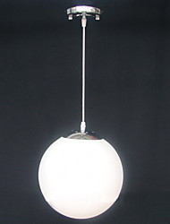 15CM Contracted White Glass Ball Decorative Chandelier Light Lamp LED