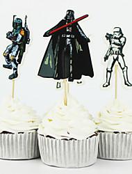 72pcs les hauts de forme de petit gâteau fournitures star wars de fête d'anniversaire de bande dessinée choisir faveurs décoration de