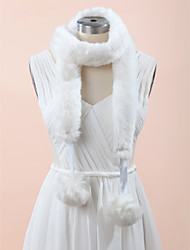 Shawls Scarves Sleeveless Faux Fur White Wedding / Party/Evening / Casual
