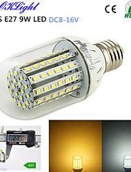 1 Stück YouOKLight Dekorativ LED Mais-Birnen T E26/E27 9W 800 LM 3000/6000 K 90 SMD 3528 Warmes Weiß / Kühles Weiß DC 12 V
