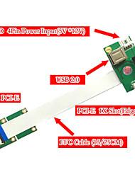 36pin Mini PCI-e pour 52pin slot PCI-e 2.0 étend adaptateur 30cm