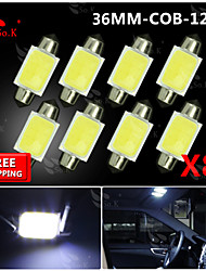 8x Festoon 36mm High Power COB SMD Light Dome Map Lamp Bulb 211-2 578 212-2