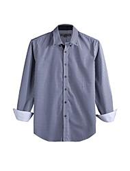 JamesEarl Herren Hemdkragen Lange Ärmel Shirt & Bluse Blau - DA112046227