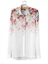 Skymoto®Women's Chiffion Flowers Long Sleeve Blouses