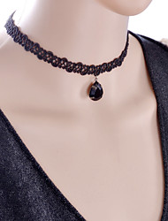 Necklace Choker Necklaces / Torque / Gothic Jewelry Jewelry Halloween / Wedding / Party / Daily / Casual Lace Black 1pc Gift