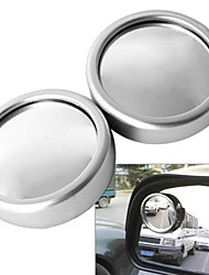 ZIQIAO Car 360 Angle Adjustable Rotative Vehicle Blind Spot Wide Angle View Round Mirror(2 PCS)