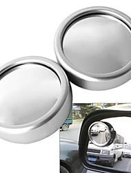 carro ziqiao 360 ângulo rotativo veículo ponto cego grande ângulo vista espelho redondo ajustável (2 peças)