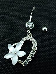 Femme Navel & Bell Button Rings Acier inoxydable Argent Bijoux,1pc